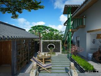 中式阳台花园露台