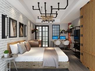 宾馆套房  loft风格