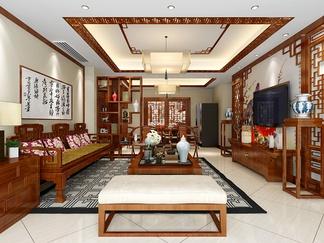 客厅空间  中式风格
