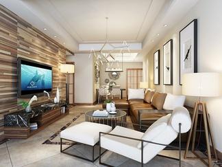 客厅空间  现代风格