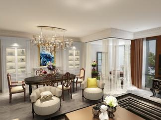 客厅空间  简欧风格
