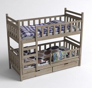 儿童原木上下床