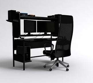 黑色电脑桌