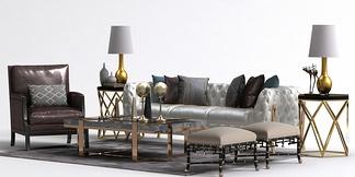 新古典简美沙发组合
