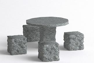 石桌石凳组合