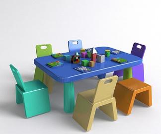 儿童积木桌椅组合