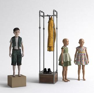 塑料儿童模特