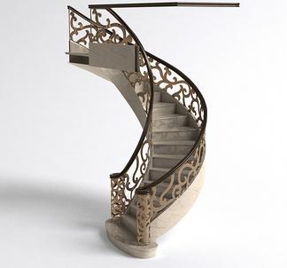 简欧铁艺栏杆楼梯