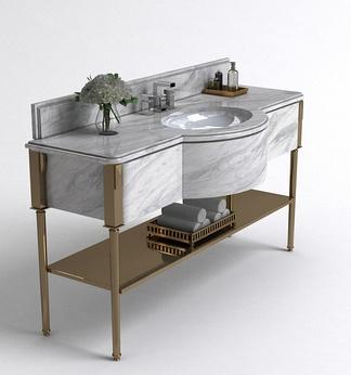 现代轻奢洗手台