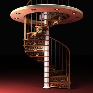 欧式铁艺栏杆楼梯