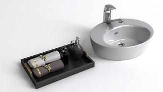 现代简约洗手盆