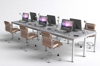 现代多人电脑桌