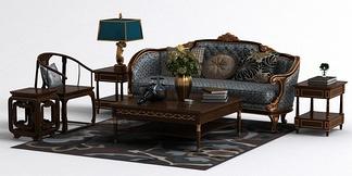 欧中式混搭沙发组合