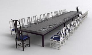 现代中式会议桌椅