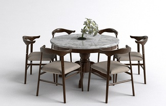 中式餐桌椅组合
