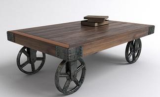 中式四轮小桌