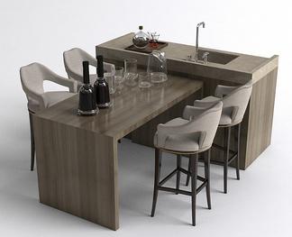 现代餐桌吧台洗手台
