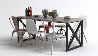 混搭餐桌椅组合