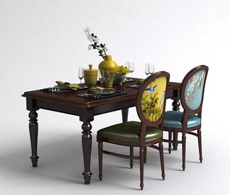 美式餐桌椅