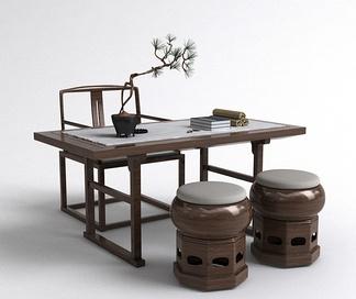 中式书桌椅组合
