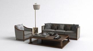 中式简约沙发组合