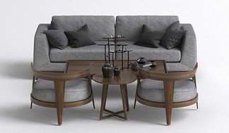 现代沙发组合