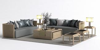 中式沙发组合