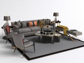 现代茶几沙发组合