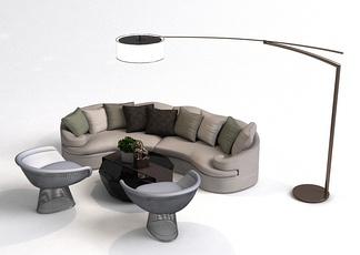 现代大厅休闲沙发组合