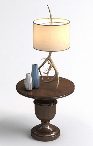 美式艺术台灯