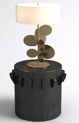现代艺术金片台灯