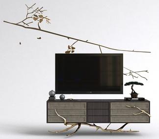 中式艺术电视柜