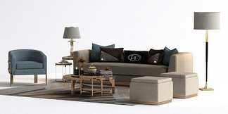 现代轻奢沙发组合