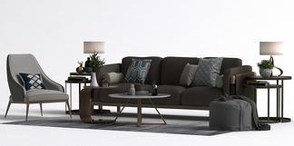 北欧风格沙发单椅组合