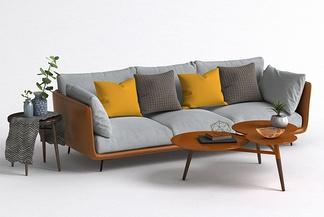 北欧茶几沙发组合