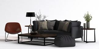 北欧单椅沙发组合