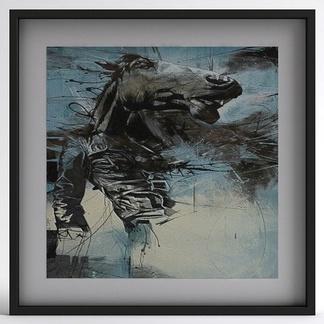 现代马头挂画