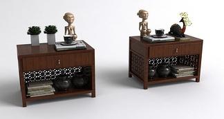 中式床头柜组合
