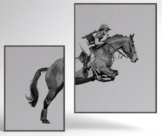 现代骑马挂画