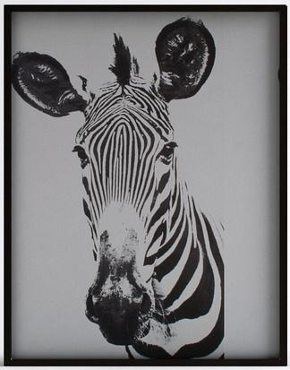 现代斑马挂画