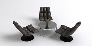现代休闲躺椅组合