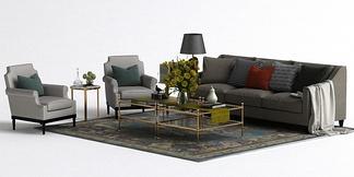 小美式沙发组合