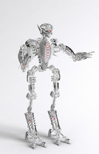 现代机器人玩具