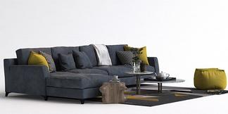 北欧L型沙发组合