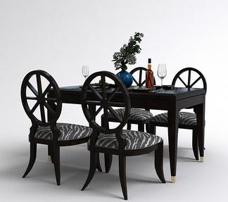 新古典餐桌椅组合