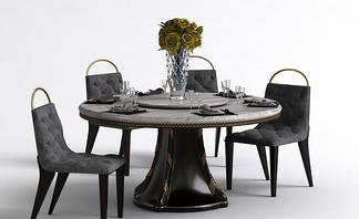 新古典轻奢餐桌椅组合