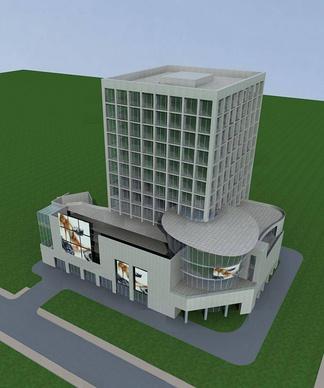 现代小高层商业办公楼