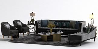 现代沙发榻组合