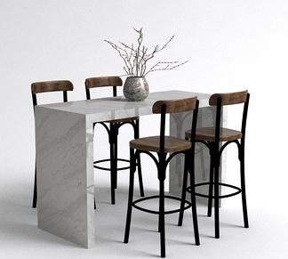 北欧吧台餐桌椅组合