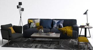 北欧沙发单椅组合